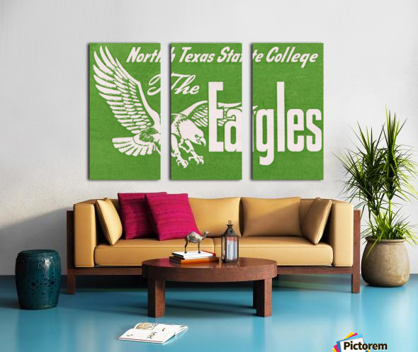 north texas state college unt eagles vintage poster college art collection Split Canvas print