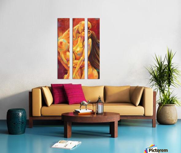 AMOR AMARILLO Split Canvas print