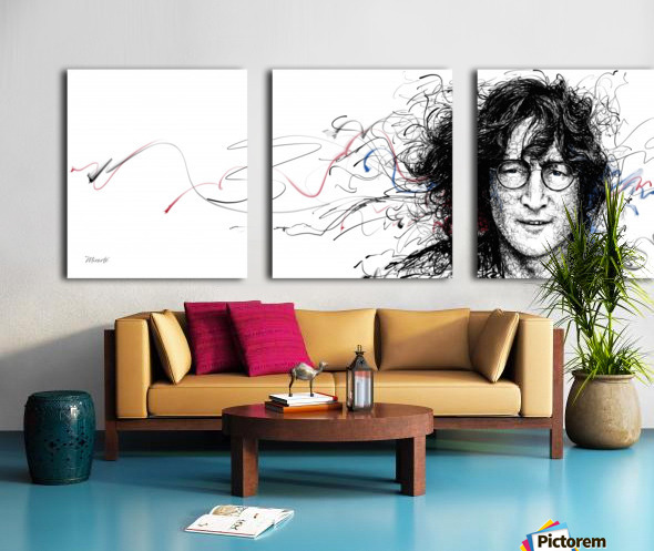 LENNON Split Canvas print
