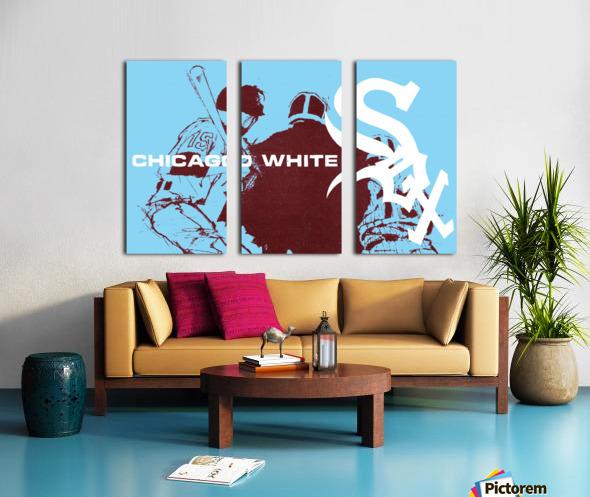 ChicagoWhiteSoxPoster_CheapBaseballPosters_UniqueChicagoGiftIdeas Split Canvas print