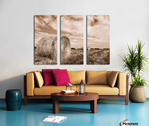 Le temps des foins Split Canvas print
