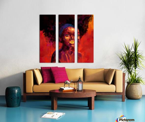 BELLEZA AFRO Split Canvas print