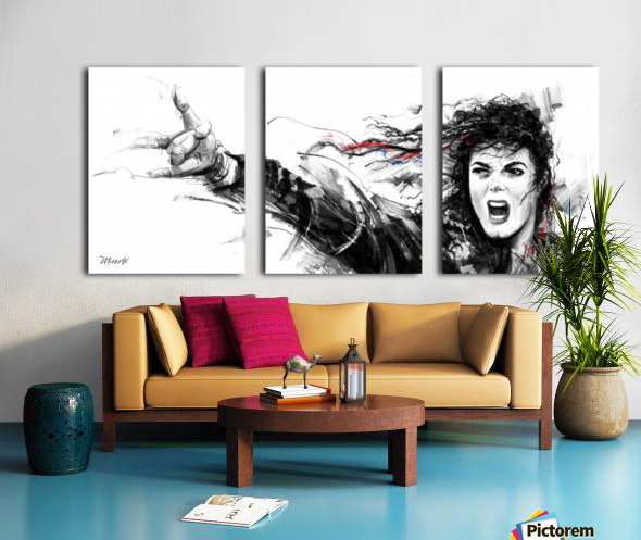 MICHAEL JACKSON Split Canvas print