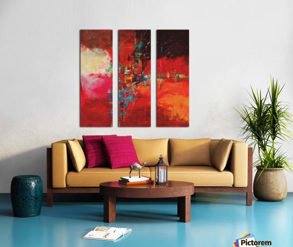 CASCADA ROJA Split Canvas print