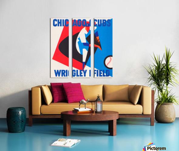 Retro_Remix_Sports_Program_Scorecard_Posters_Row_One_Chicago_Cubs Split Canvas print