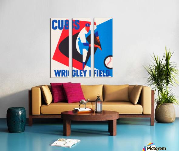 Cubs Wrigley Field Art Split Canvas print