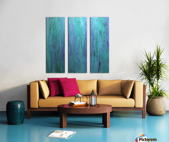 Aqua Real Split Canvas print