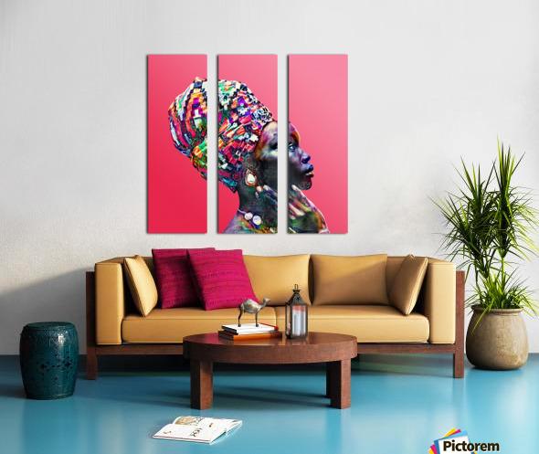 Color Through Culture VII Split Canvas print