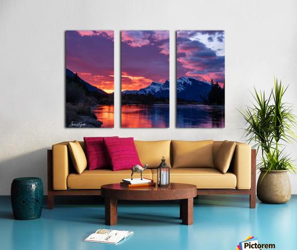 Bow River Sunrise East Split Canvas print