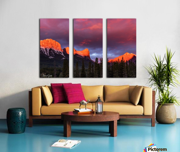 Ha Ling Mountain Range Sunrise Split Canvas print