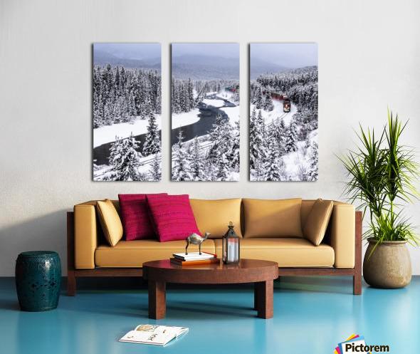 Morants Curve  Banff National Park Split Canvas print