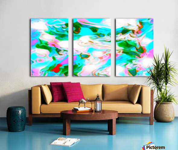 Angelic High - white blue red pink multicolor swirl abstract wall art Split Canvas print