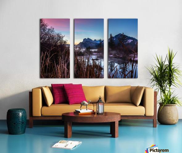 Vermilion Lakes Mist Split Canvas print