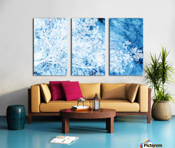 Indigo Dream Split Canvas print