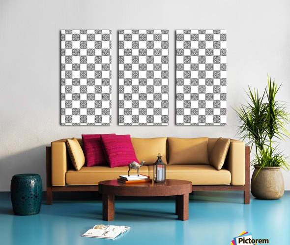 seamlesstilederivativepattern Split Canvas print