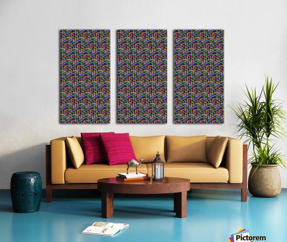 seamlessprismaticgeometricpatternwithbackground Split Canvas print
