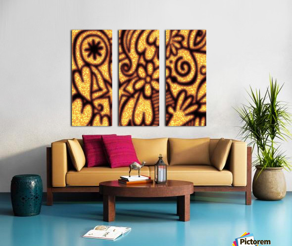background pattern Split Canvas print