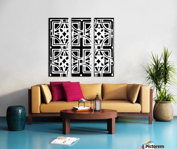 Blackandwhitegeometricgeometrypattern Split Canvas print