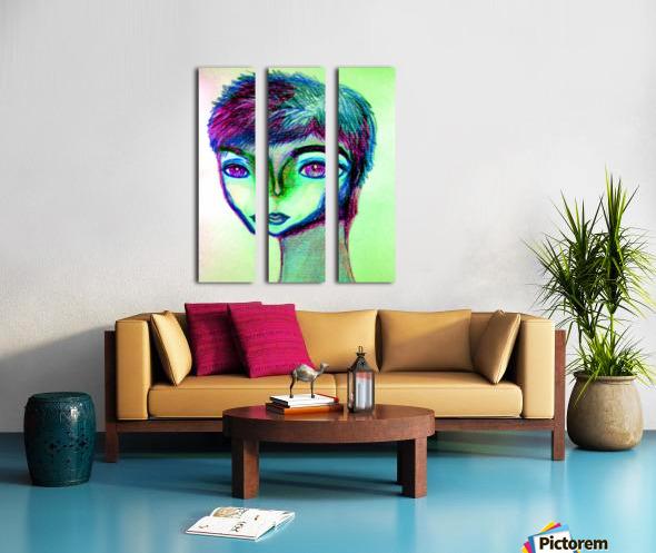 spritecolorsalien7 Split Canvas print
