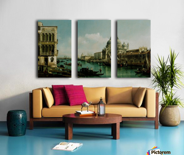 View of the Grand Canal and the Dogana Split Canvas print