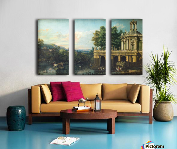 Architectural Caprice with a Palace Split Canvas print
