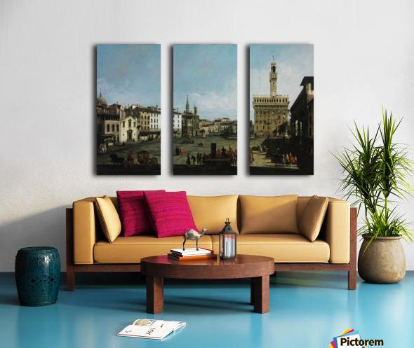 The Piazza della Signoria in Florence Split Canvas print