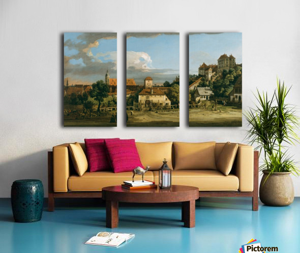 Pirna - The Obertor from the South Split Canvas print
