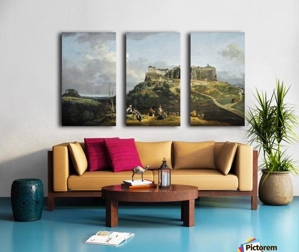 Festung Konigstein Split Canvas print