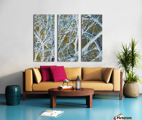 Funky Branches Split Canvas print