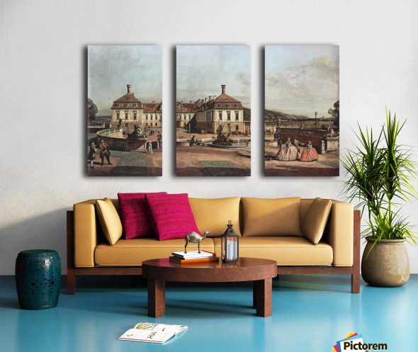 The imperial summer residence, courtyard Split Canvas print