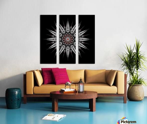 Garnet Reactor Mandala Split Canvas print
