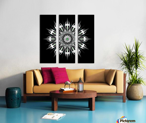 Absinthum Reactor Mandala Split Canvas print