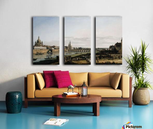 Dresden vom rechten Elbufer Split Canvas print