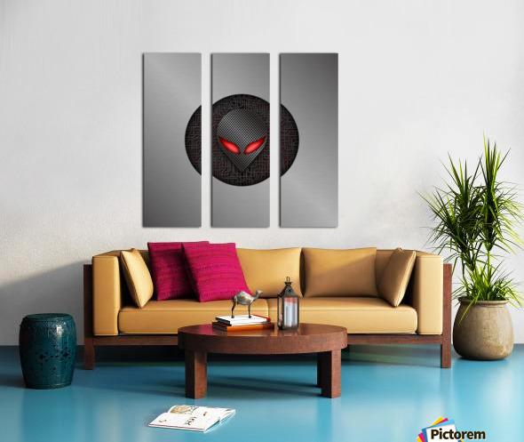 Altered Carbon Red Eye Demon Split Canvas print