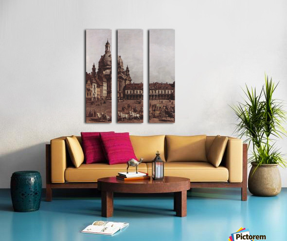 Der Neumarkt in Dresden Split Canvas print
