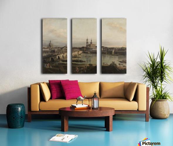 Dresden, die Altstadt Dresdens vom Neustadter Bruckenkopf Split Canvas print