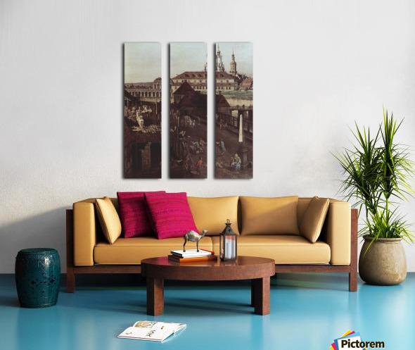 Errichtung der Saulen Split Canvas print