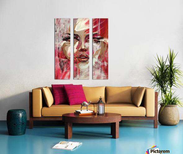SENTIDOS DE MUJER Split Canvas print