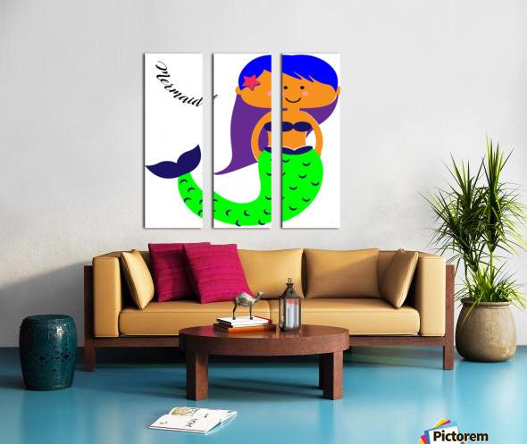Mermaid Split Canvas print