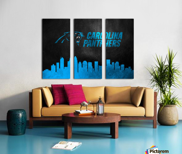 Carolina Panthers Skyline Split Canvas print