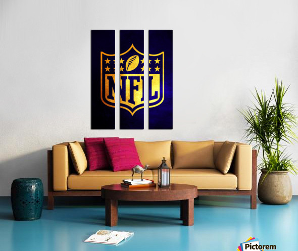 Nfl logo Blue Gold Skyline Split Canvas print