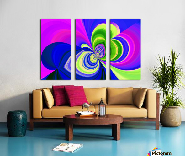 PSYCHEDELIC BUTTERFLY 2 Split Canvas print