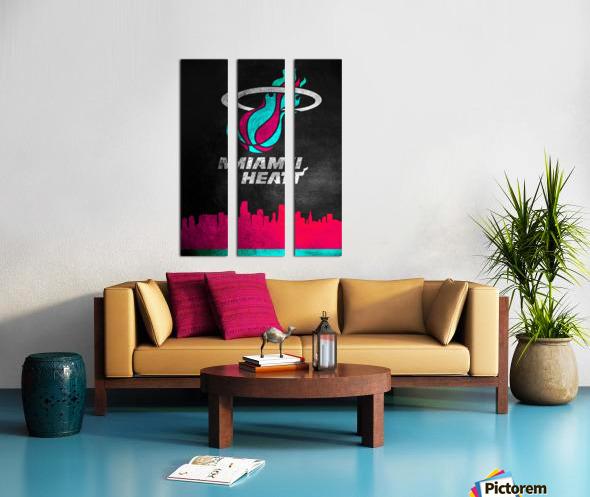 Miami Heat Vice 2 Split Canvas print