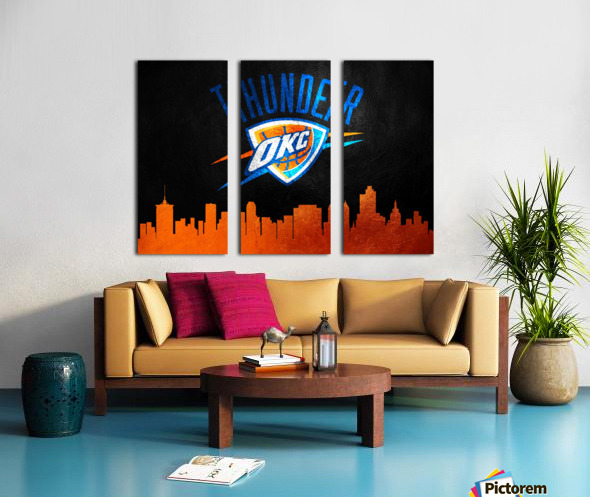 Oklahoma City Thunder Split Canvas print