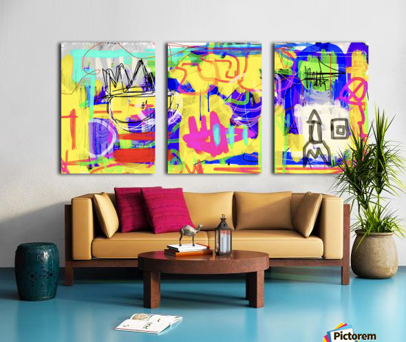 Spaces Split Canvas print