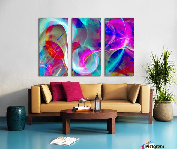 SWIRLS 1B Split Canvas print