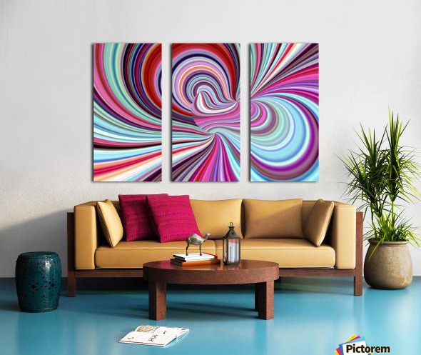 WHIRLWIND 2C Split Canvas print