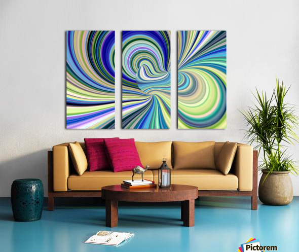 WHIRLWIND 2D Split Canvas print