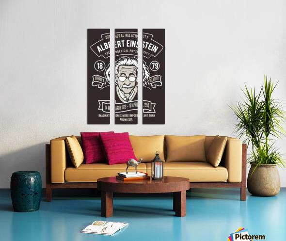 Albert einstein poster Split Canvas print