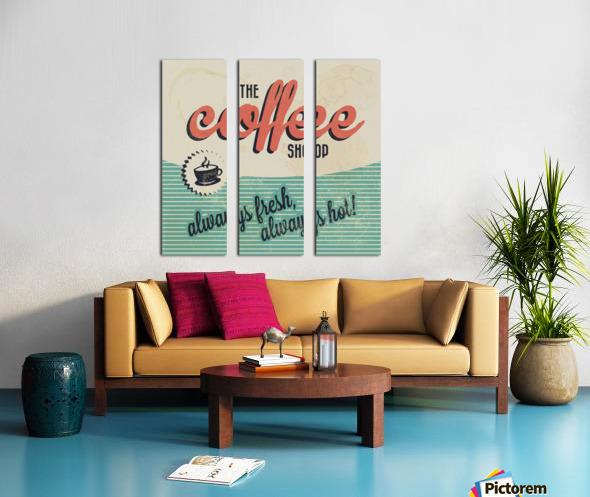 Coffe wallpaper grunge style always fresh always hot vintage retro poster Split Canvas print